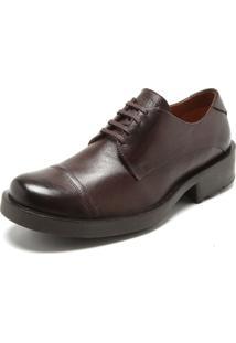 Sapato Couro Ellus Cadarço Marrom