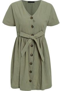 Vestido Sweet - Verde Militar Xg