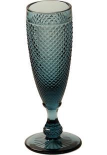 Taça De Vidro Bico De Jaca 150 Ml Azul Escuro