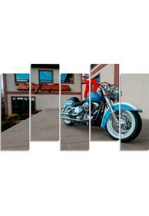 Quadro Decorativo Para Sala Quarto Moto Harley Davison - Multicolorido - Dafiti