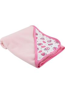 Cobertor Lovatinho Soft Cupcake Rosa