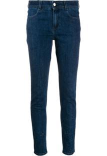 Stella Mccartney All Is Love Star-Embossed Skinny Jeans - Azul