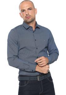 Camisa Aramis Slim Pontos Azul/ Preta