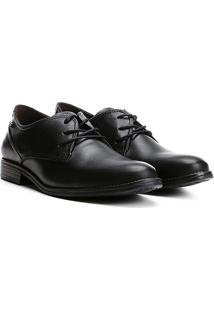 Sapato Social Couro Pegada Anilina - Masculino-Preto