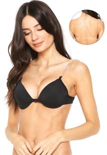 Sutiã Dilady Push Up Nude Back Preto
