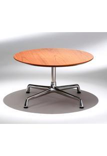 Mesa Charles Eames Lateral - Redonda Imbuia Tampos