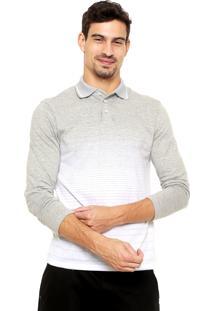 Camisa Polo Malwee Degradê Cinza