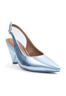 Sapato Morena Rosa Chanel Fivela Personalizada Azul