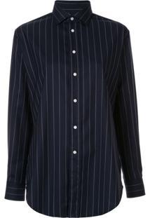 Polo Ralph Lauren Camisa Mangas Longas Listradas - Azul