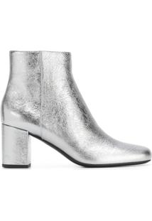 Saint Laurent Ankle Boot Modelo 'Babies 70' - Metallic
