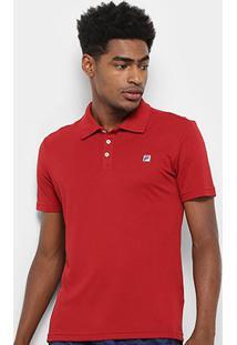 Camisa Polo Fila Spot Ii Masculina - Masculino-Vermelho