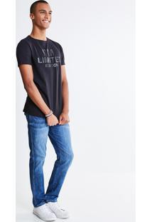 Calça Skinny Em Jeans Médio