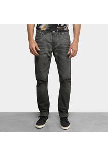 Calça Jeans Skinny Forum Destroyed Masculina - Masculino-Cinza