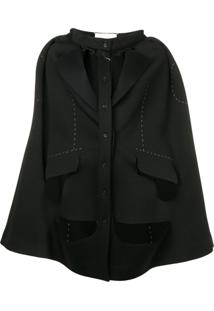 Maison Margiela Cut-Out Cape - Preto
