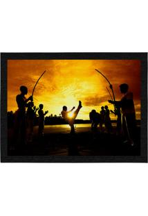 Capacho - Tapete Colours Creative Photo Decor - Grupo De Capoeira Marrom