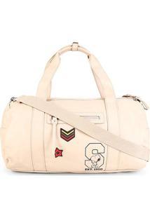 Bolsa Snoopy Barrel Bag Grande Feminina - Feminino-Bege