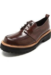 Sapato Couro Ellus Tratorado Marrom