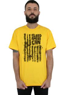 Camiseta Bleed American Dark Flag Amarela