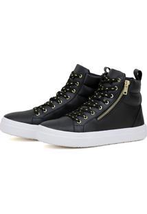 Tênis Fit Preto Cr Shoes