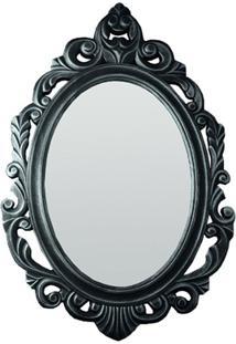Espelho De Parede Baroque 50X77Cm Cinza