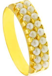 Alianã§A Horus Import Dupla Pã©Rolas Banho Ouro 18 K Dourado - Amarelo/Dourado - Feminino - Dafiti