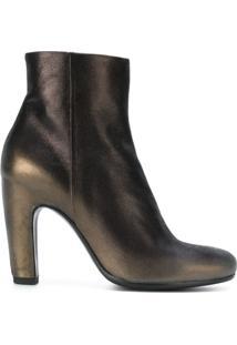 Officine Creative Ankle Boot De Couro - Metálico