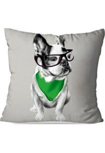 Capa De Almofada Decorativa Bulldog Frances 35X35Cm