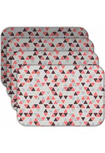 Jogo Americano Love Decor Wevans Multi Triângulos Kit Com 4 Pçs. - Kanui