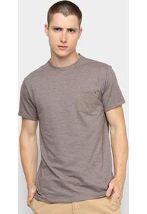 Camiseta Reserva Piquet Bolso Masculina - Masculino-Cáqui