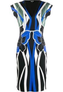 Just Cavalli Vestido Casual Com Estampa - Azul
