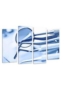 Quadro Oppen House 70X100Cm Decorativo Interiores Odontológico Kit Dentistas
