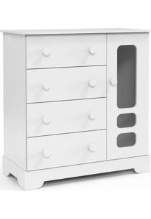 Cômoda Infantil Smart 4 Gv Branco Soft