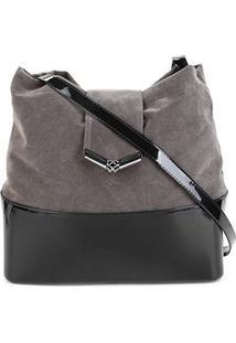 Bolsa Petite Jolie Megan Bag Feminina - Feminino-Preto+Cinza