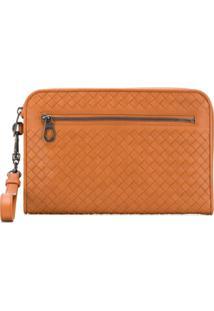 Bottega Veneta Woven Clutch Bag - Marrom