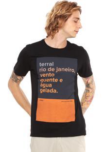 Camiseta Redley Silk Terral Preta