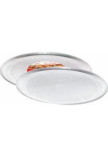 Forma Para Pizza Crocante 35Cm Alumínio 645 Mta