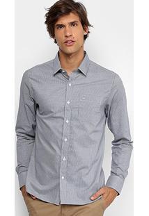 Camisa Slim Fit Calvin Klein Estampada Masculina - Masculino