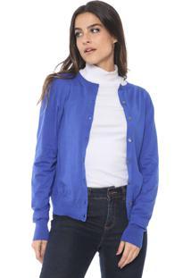 Cardigan Banana Republic Tricot Strech-Cotton Azul