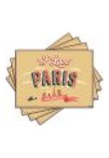 Jogo Americano - Paris Com 4 Peças - 740Jo
