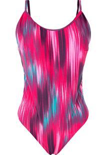 Body Outletdri Cavado Alcinha Estampa Mix Verão Pink