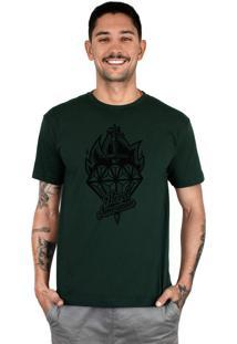 Camiseta Bleed American Diamond Musgo.