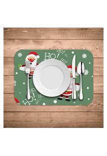 Jogo Americano De Natal Merry Christmas Ho Ho Ho Kit Com 4 Pçs