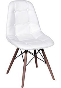 Cadeira Eames Botonãª- Branca & Marrom- 83X44X39Cm