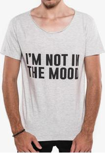 Camiseta I'M Not In The Mood Mescla Claro Gola Canoa 103400