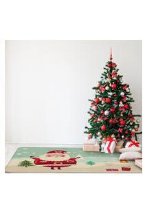 Tapete De Natal Para Sala Papai Noel Fofinho Único