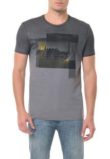 Camiseta Ckj Mc Estampa Formas Chumbo Camiseta Ckj Mc Estampa Formas - Chumbo - P