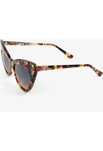 Óculos De Sol Soleah Imaginária Luxo Oncinha Chantal Goldfinger Onça
