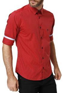 Camisa 3/4 Masculina Vermelho