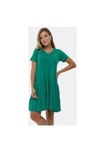 Vestido Manola Curto Renata Verde Bandeira Multicolorido