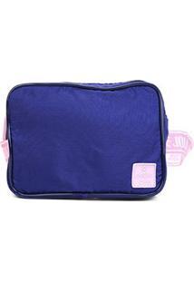 Pochete Petite Jolie Lean Nylon Feminina - Feminino-Azul Escuro